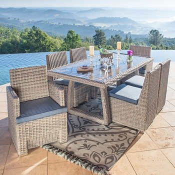 Niko 7 Piece Patio Dining Set In 2020 With Images Outdoor