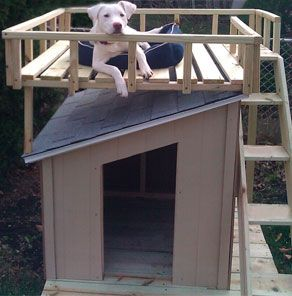 How To Build A Dog House With Sun Deck At The Home Depot Dog