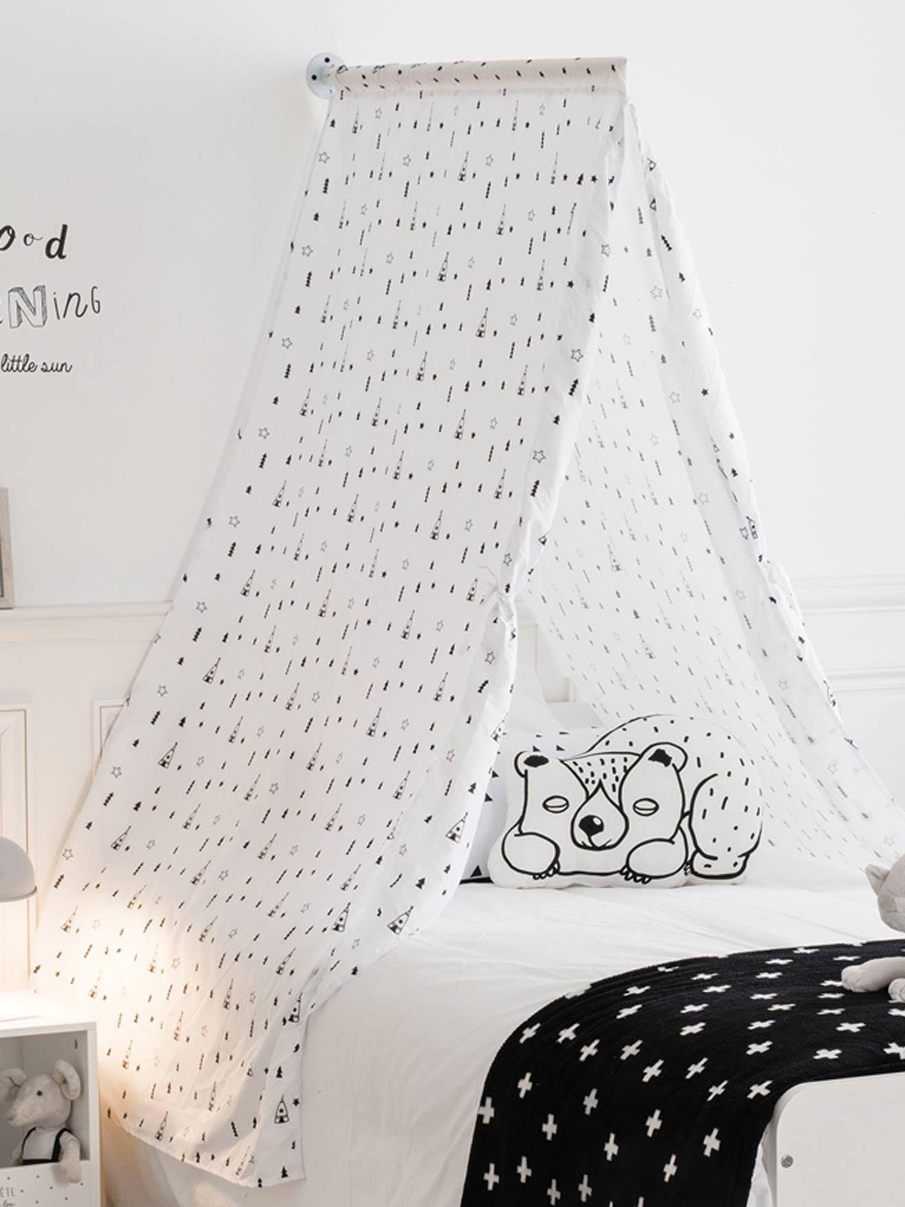 Ciel de lit Tipis blanc - Vertbaudet | Bed, Teepee bed ...