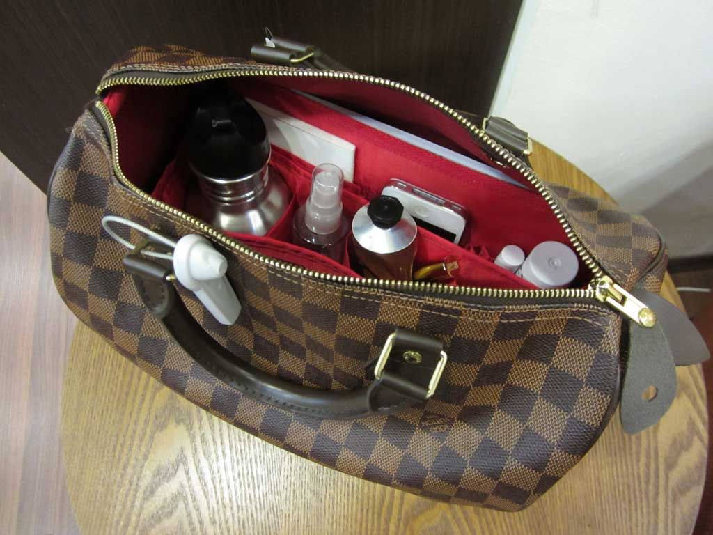 3bdd075f08a2 Purse Organizer Insert for Louis Vuitton Speedy 30 Damier Ebene by CloverSac