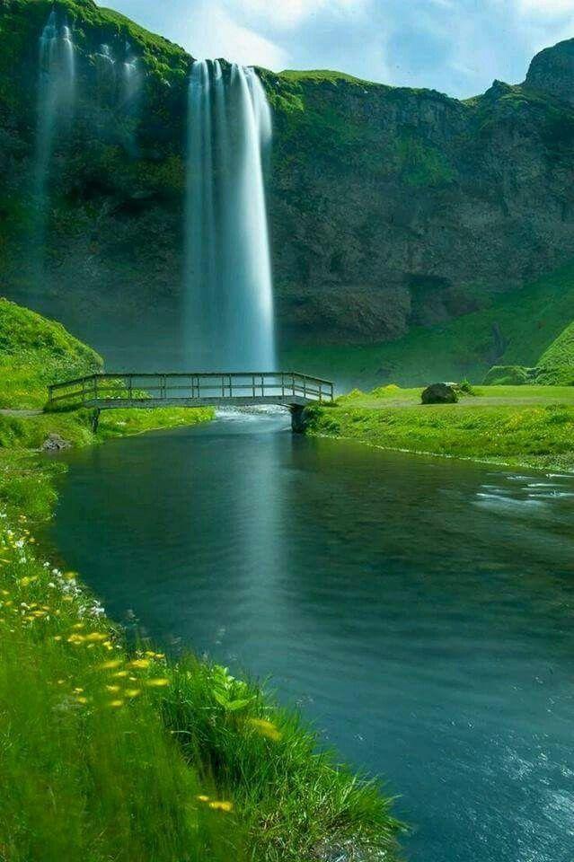 Pin By Azhar Channa On Amazing Peaceful Nature Waterfall Beautiful Nature Nature