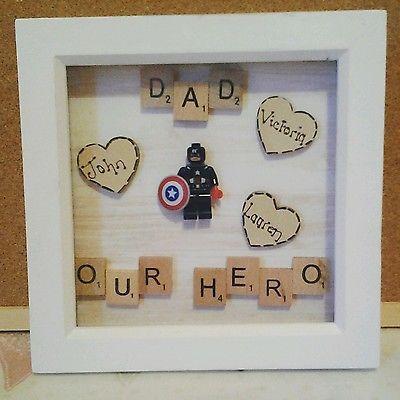 Personalised FATHER/'S DAY SUPERHERO present// Birthday Gift//GRANDAD Keepsake art