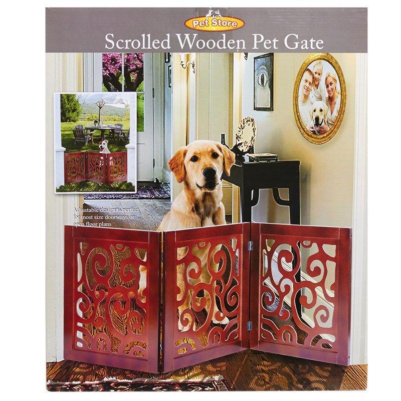 Wooden Scroll Gate Wooden Pet Gate Pet Gate Dog Gate