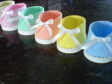 Decoracia N Para Baby Shower En Foami Adornos Para Baby Shower Zapatos De Foami Zapatos De Fomi