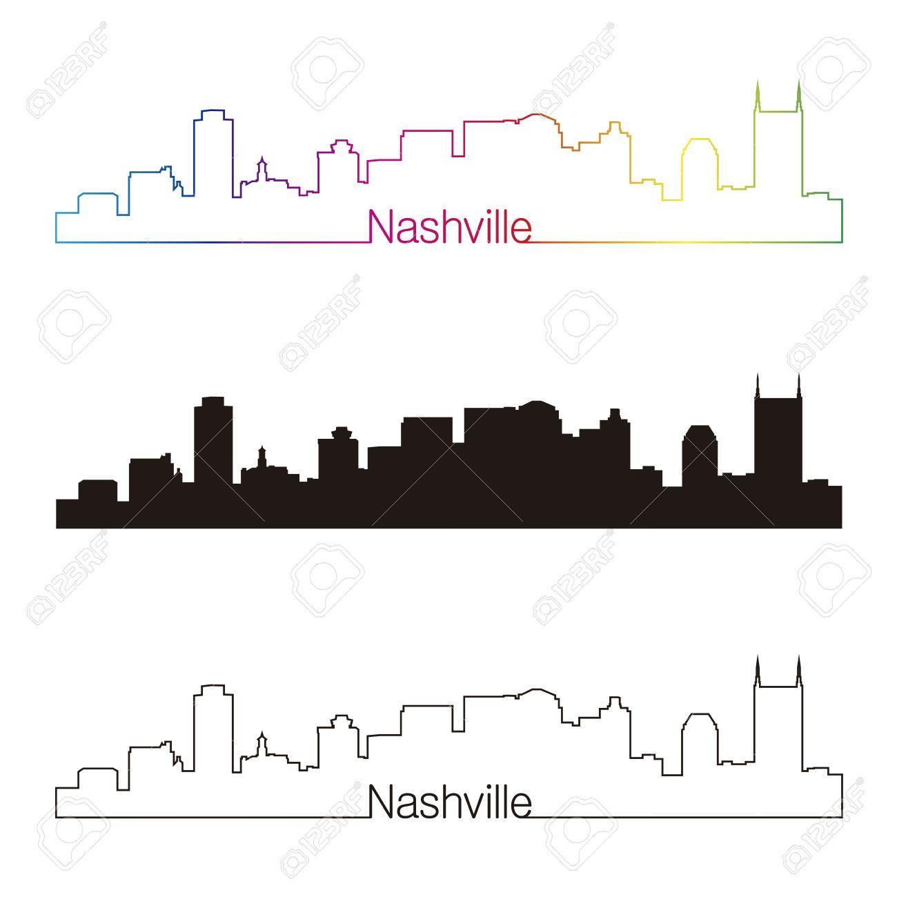 Nashville Skyline Silhouette Google Search Nashville Skyline Skyline Drawing Nashville Art