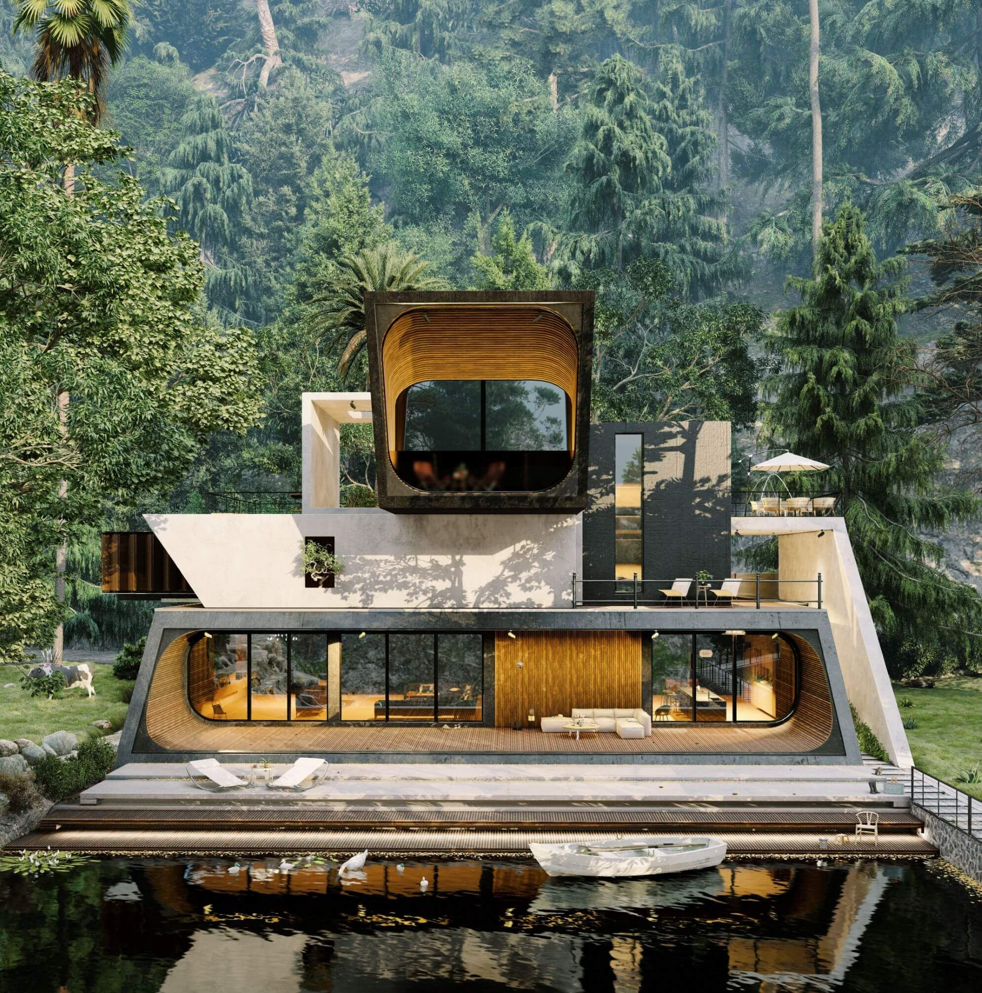 Villa Sculler in Ramsar, Iran by Didformat Studio