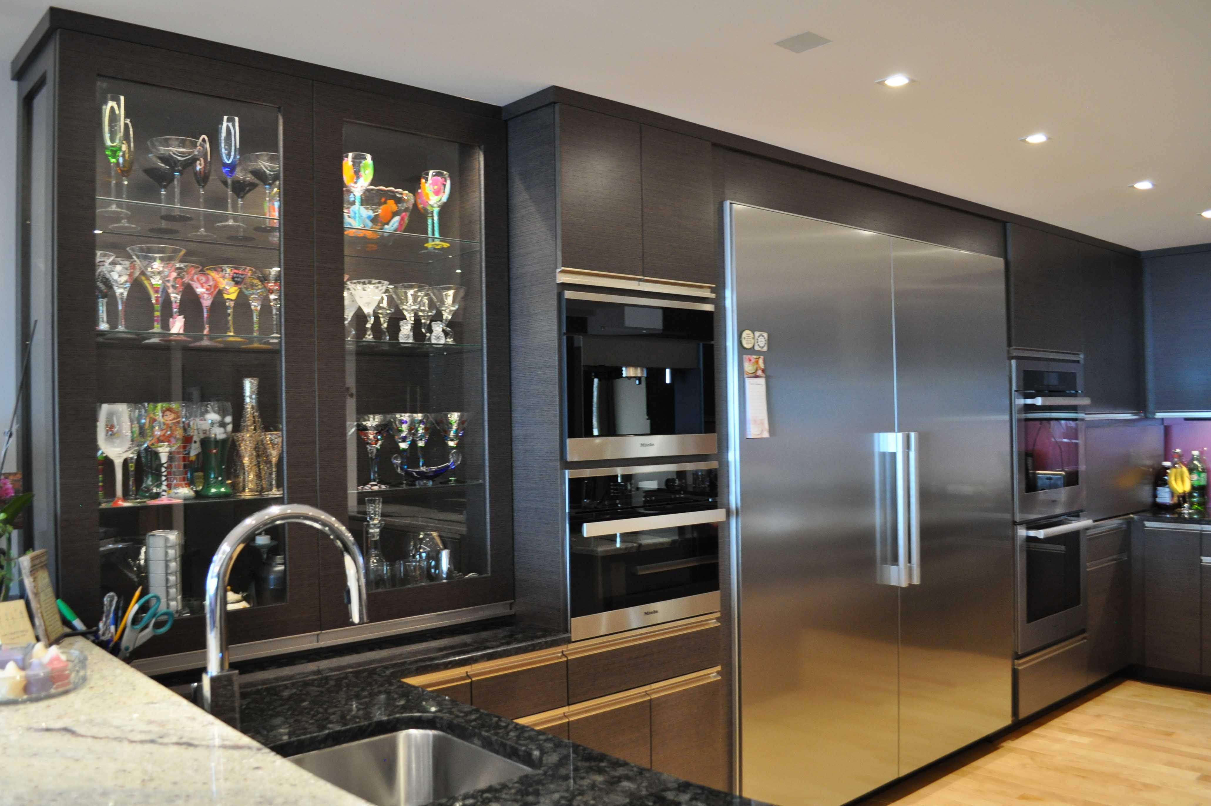 Custom cabinets with all sorts of interior accessories and ...