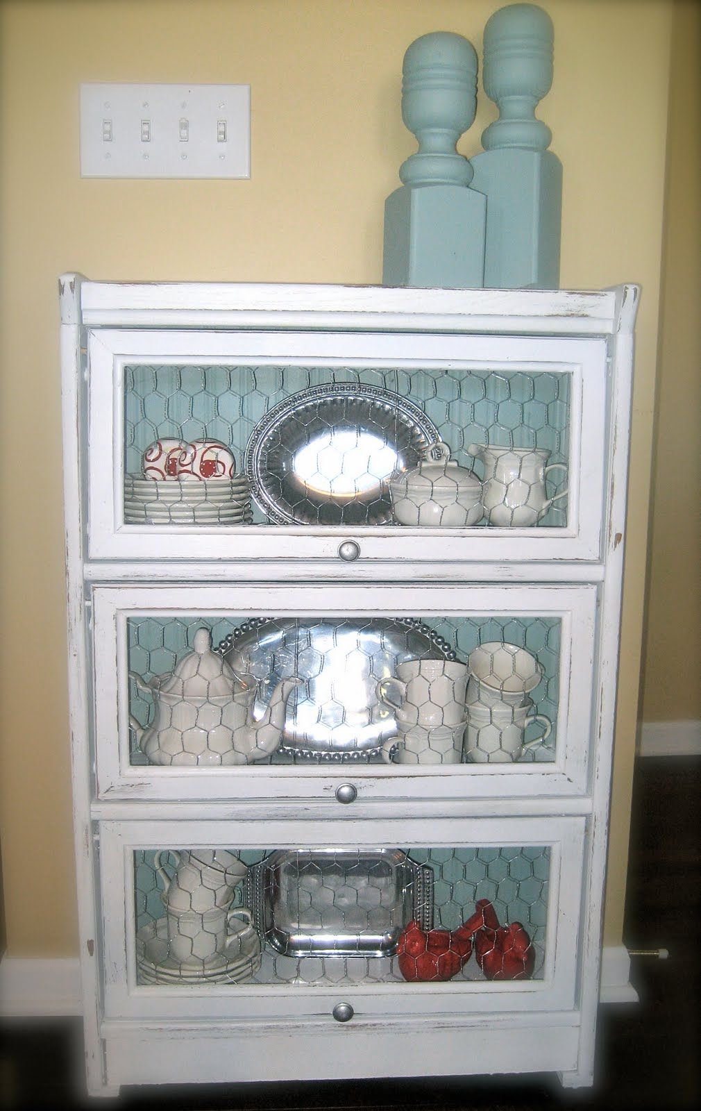 Cabinet with chicken wire...I have this same exact cabinet b… | For ...