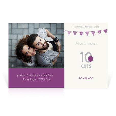 Invitation Anniversaire Mariage Noces D Etain Cardissime 10 Ans