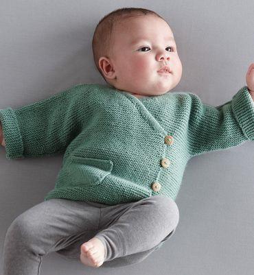 13a69bd57b122 Modèle brassière bébé - Modèles tricot layette - Phildar