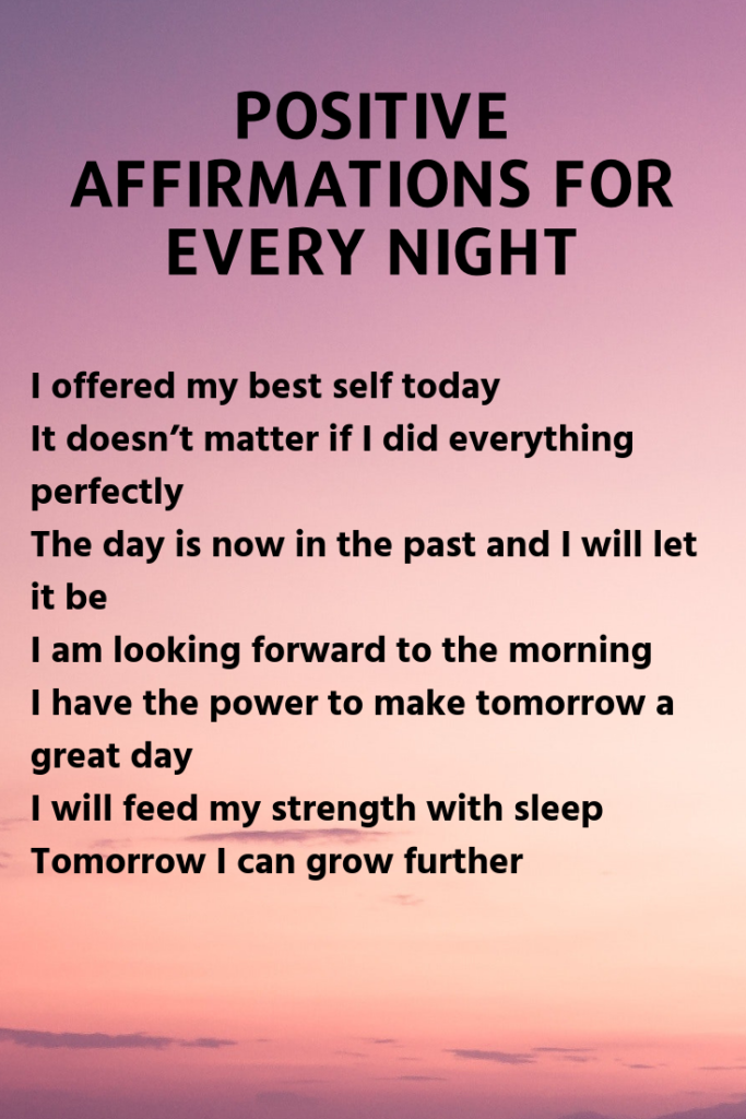 Positive Affirmations for Every Night