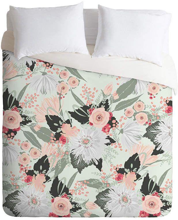 Deny Designs Iveta Abolina Carmella Creme Twin Duvet Set Bedding Duvet Sets Design Queen Duvet