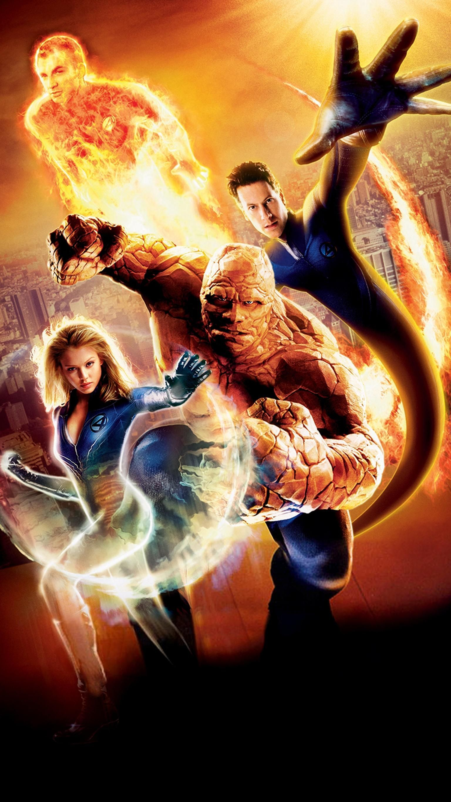 Fantastic Four (2005) Phone Wallpaper | Moviemania ross marvel frost four ramos kirby lee deodato s