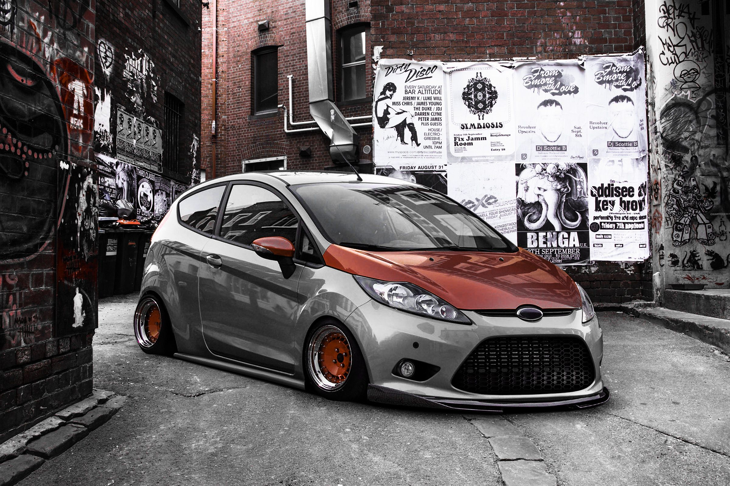 Slammed Fiesta Car Ford Car Audio Automobile