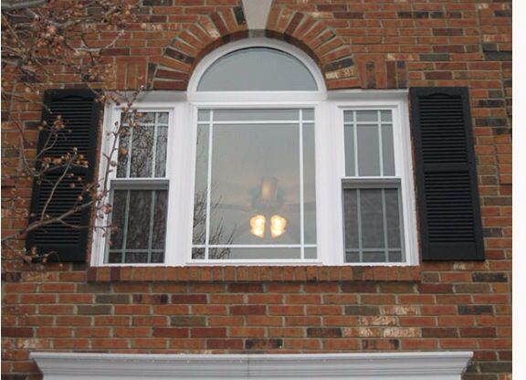 Bay Window With Prairie Grids Double Hung Windows Windows Double Hung
