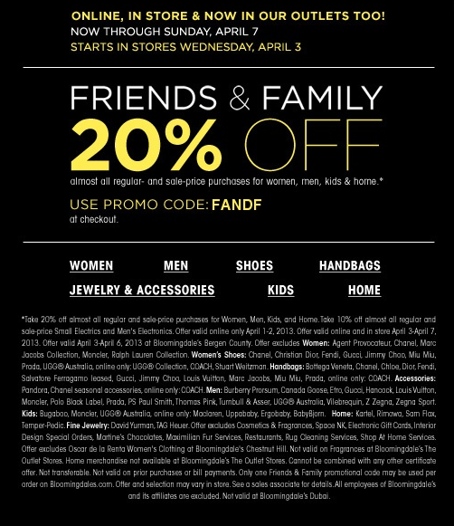 photograph regarding Bloomingdales Printable Coupons referred to as 20% off at Bloomingdales outlet sites, as well on the internet by means of