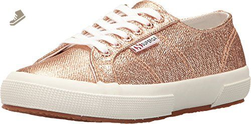 c177453b3bcfc Superga Women's 2750 Qatarmetalw Fashion Sneaker, Rose Gold, 38 EU ...