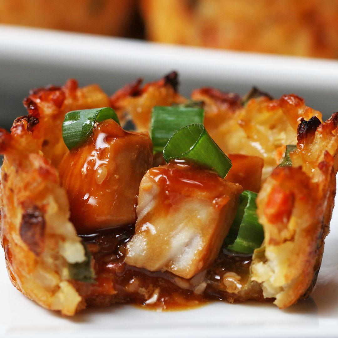 Fried Rice Chicken Teriyaki Cups #seasonedricerecipes