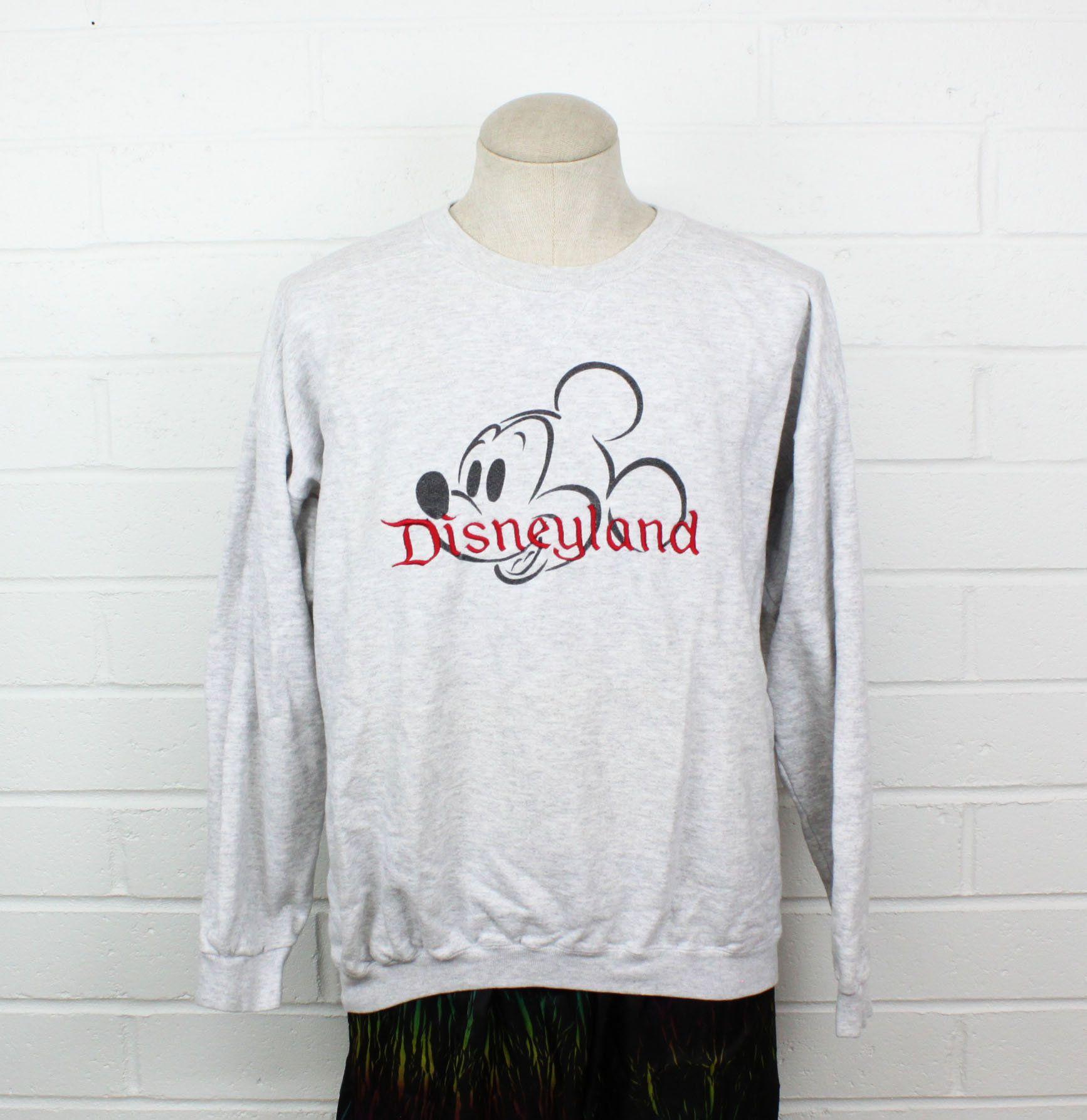 Vintage 90s Disneyland Mickey Mouse Sweatshirt Medium Baggy