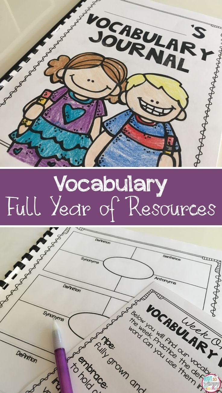 Third Grade Vocabulary Full Year Bundle Vocabulary Instruction