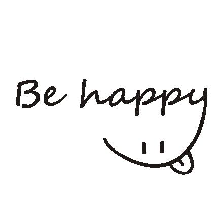 Napis na ścianę, naklejka - Be happy - 223