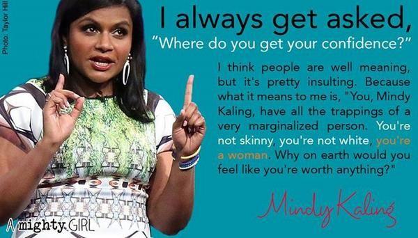 Twitter Mindy Kaling Mindy Body Positivity