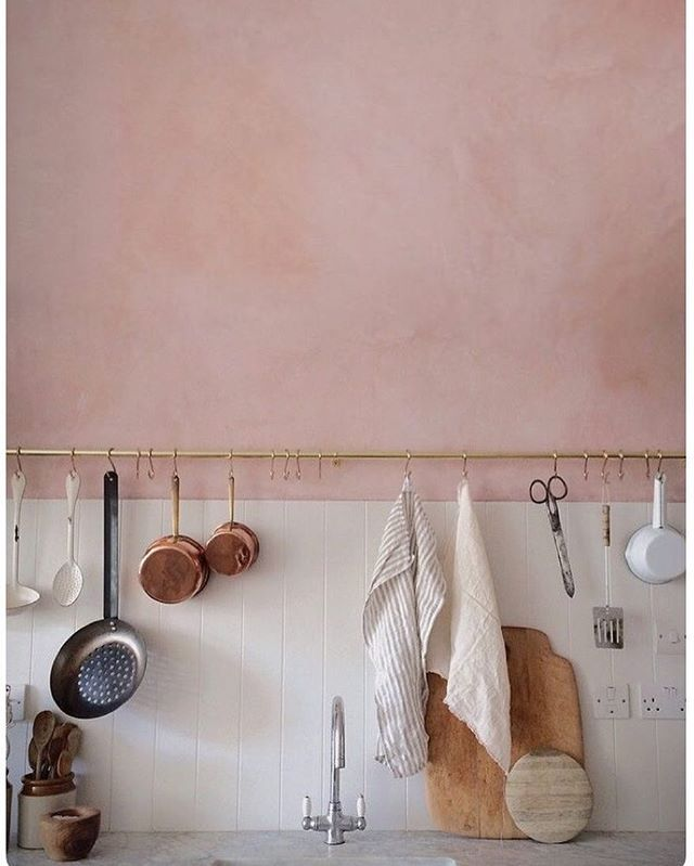 """Sweet Laurel: Real Baked Goods on Instagram: """"Major kitchen crush via our Pinterest page. Check out our profile for more inspo: SweetLaurelBake. #PinkWall #Kitchen #SweetLaurelBakery"""""""