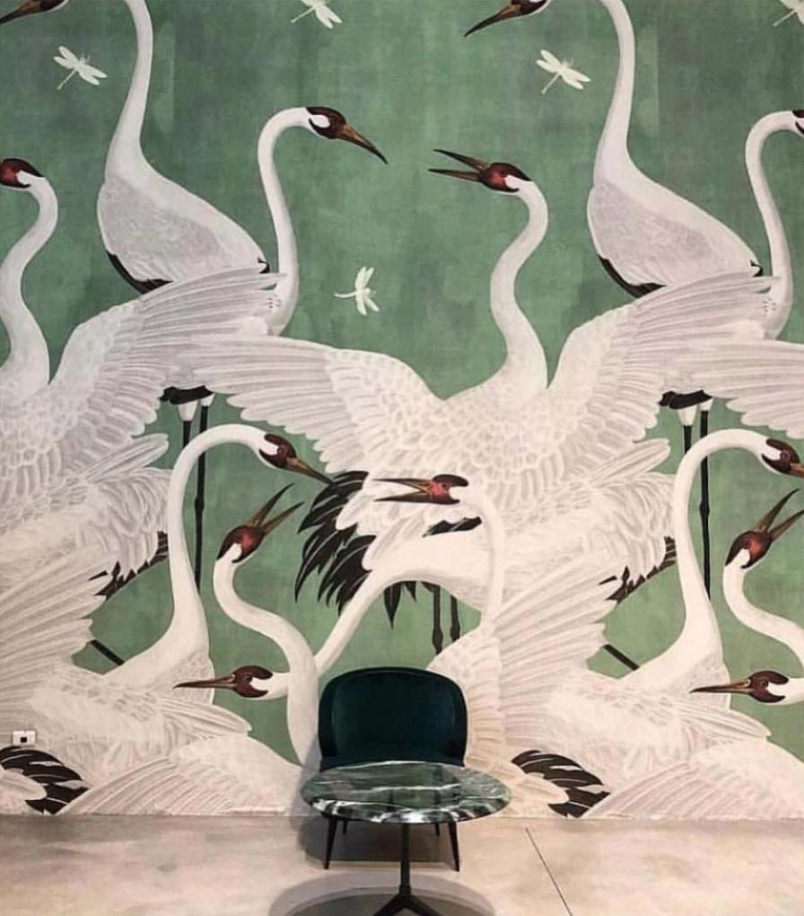 Heron Gucci Wallpaper 2019 Design Trend Home wallpaper