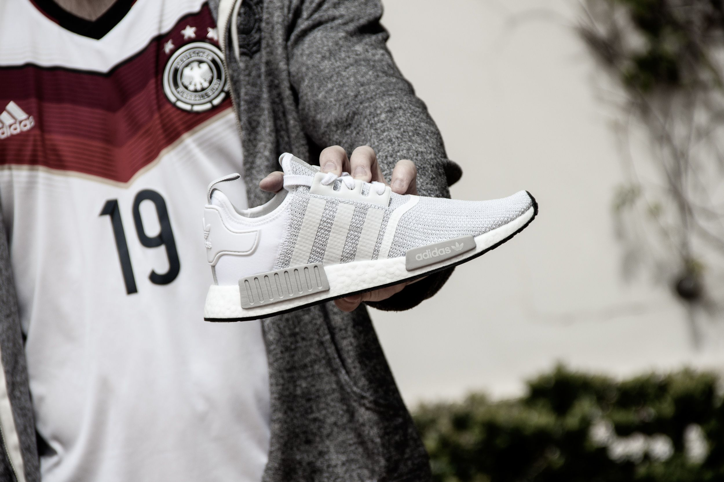 lowest price e3ea6 977ea Adidas NMDR1 White Grey B79759 Adidas Nmd R1, Adidas Originals