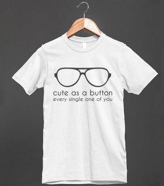 Cute As A Button Tee
