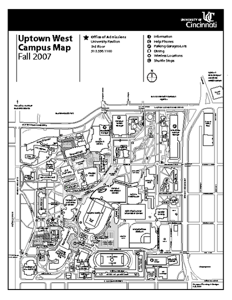University Of Cincinnati Main Campus Map Maps Local