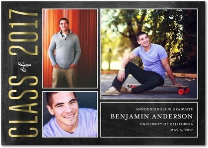 Proudly Structured - Foil Stamped Graduation Announcements - Fine Moments - Rich Black - Black : Front