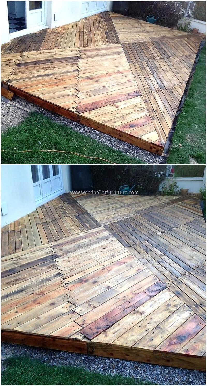 Wooden Pallets Garden Terrace Project