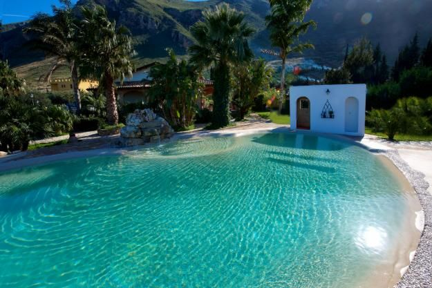 Piscinas de arena piscinas piscinas exteriores y for Construccion albercas naturales