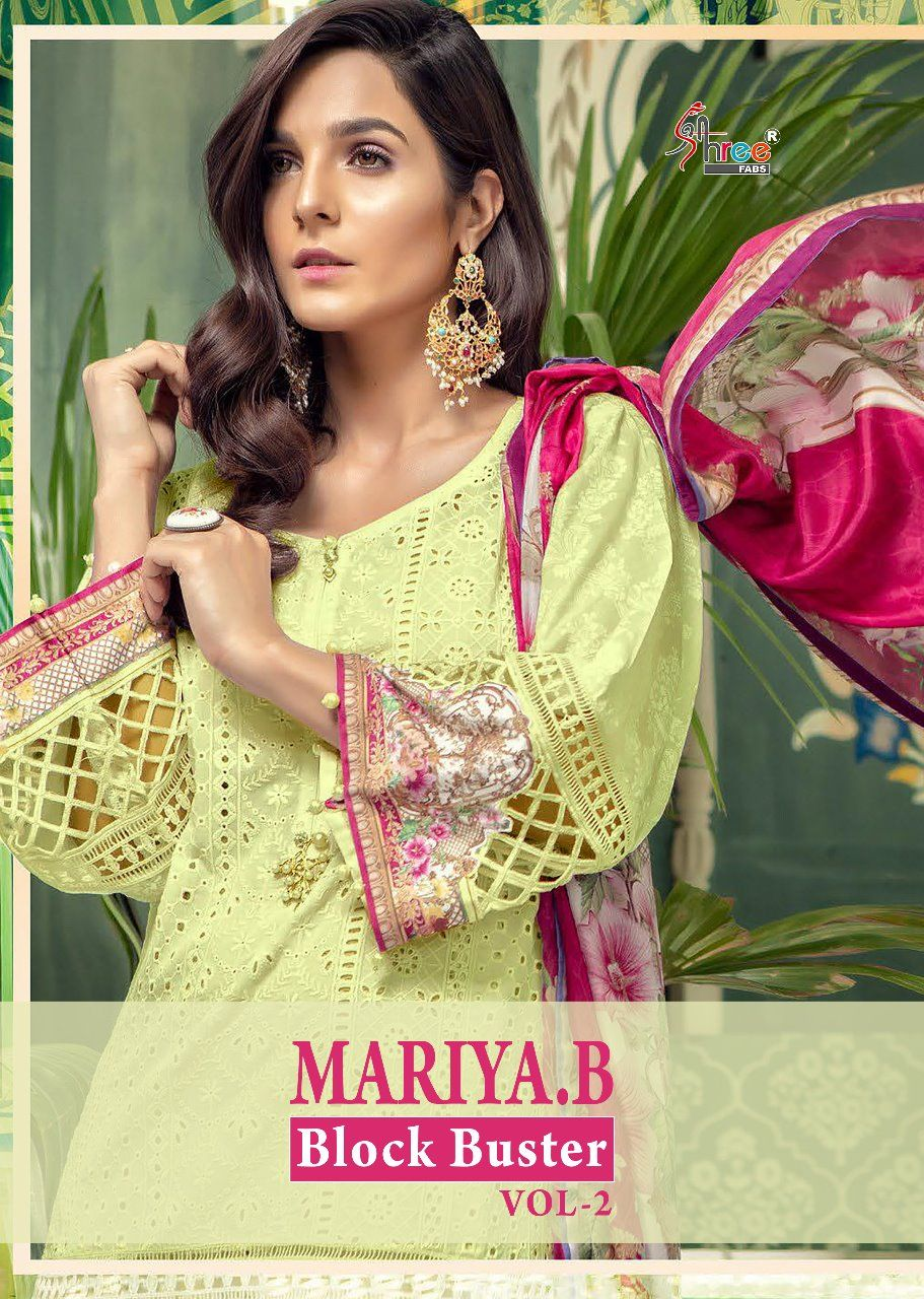 2dc93941b2 Shree Fabs Mariya B Blockbuster Vol 2 Cotton with Heavy embroidery Work  Pakistani Style Dress Material Collection at Wholesale Rate
