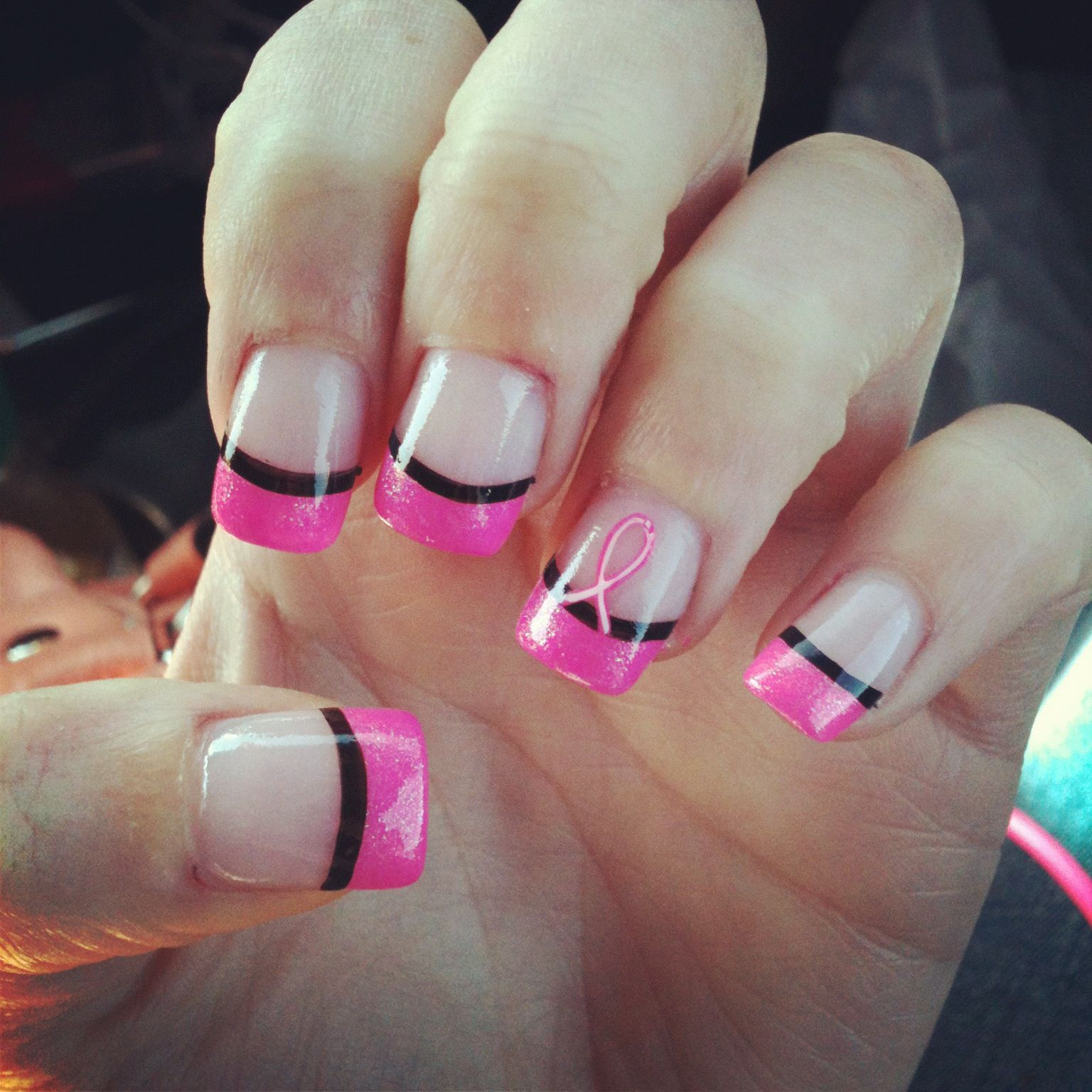 Breast cancer nails . | Re-Pin Nail Exchange | Pinterest | Breast ...