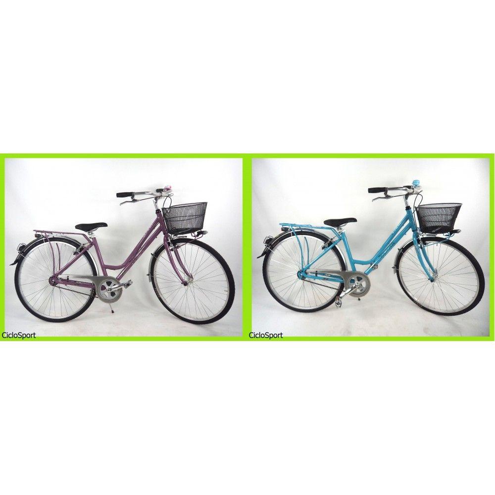 Bicicletta Frera City Bike Donna 28 in alluminio - Colori: Rosa mirtillo - Azzurro