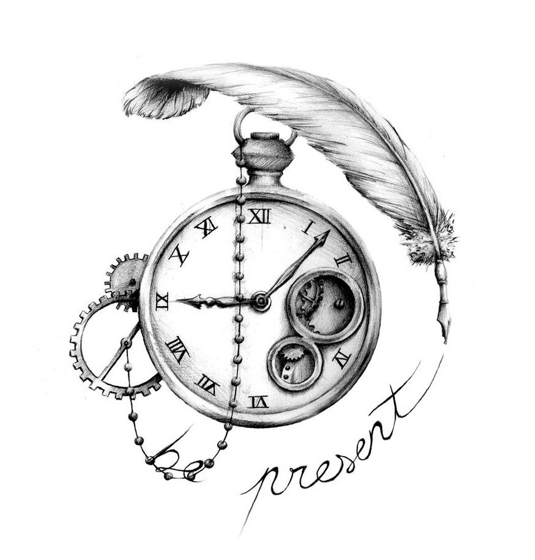 Английскими, старинные часы рисунок