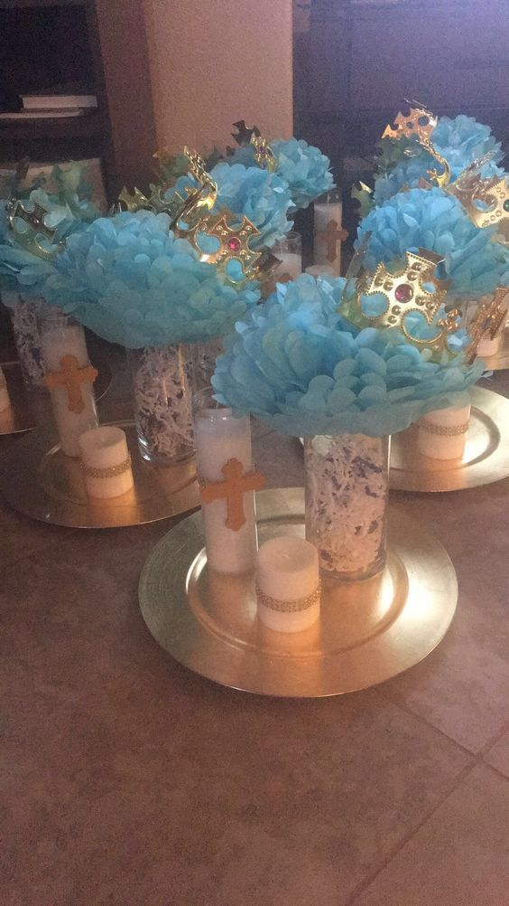 These Baptism Centerpieces Are Adorable And Look Very Easy To Make