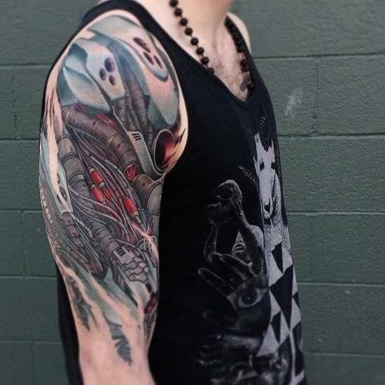 Cyborg, Mecha, Robot Arm, tattoo | .subcutaneous.color ...