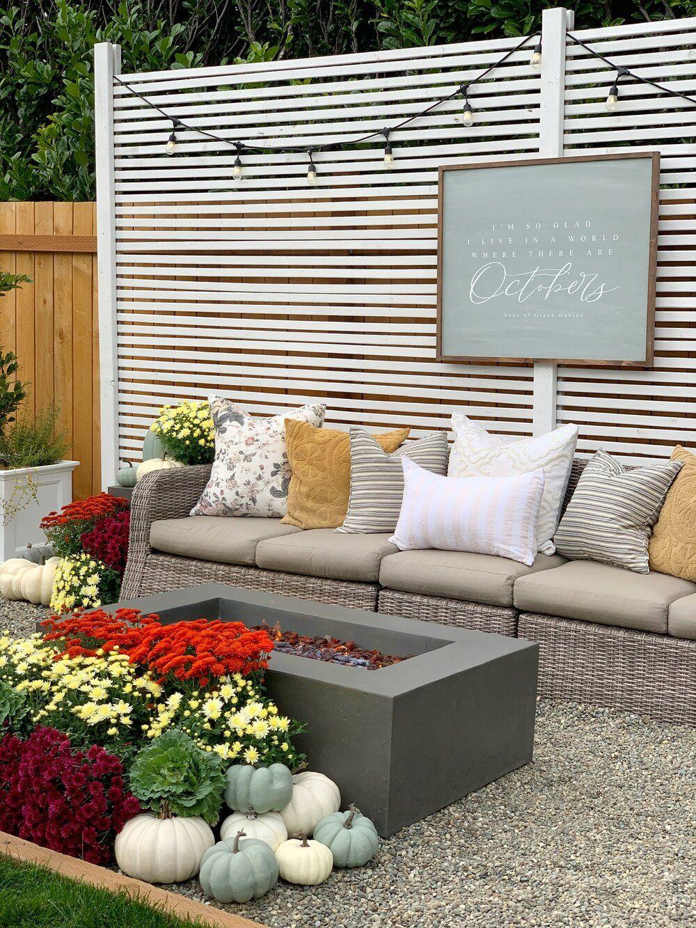 How to make your backyard cozy for fall   Backyard ...