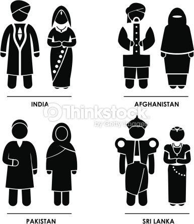 3b7434070dea1 South Asia Clothing Costume Pictogram Stock Photo