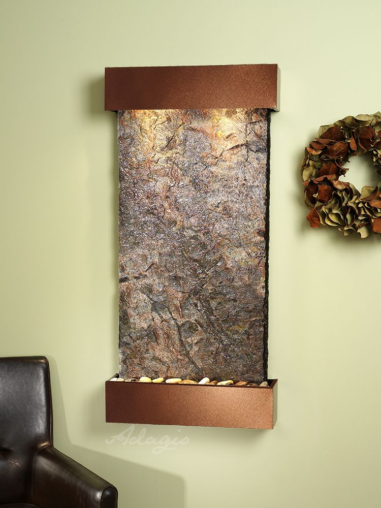 The Whispering Creek Wall Water Fountain Is Both Physically Beautiful And Totally Perfect Positioned Verti Wall Fountain Indoor Fountain Indoor Wall Fountains
