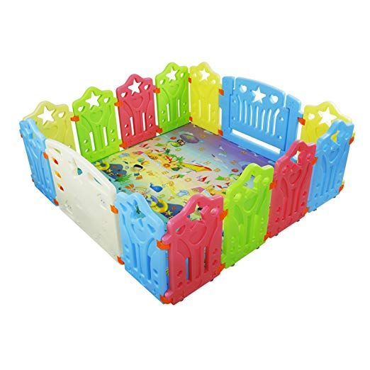 Baby Playpen Kids Activity Centre Safety Play Yard Home ...