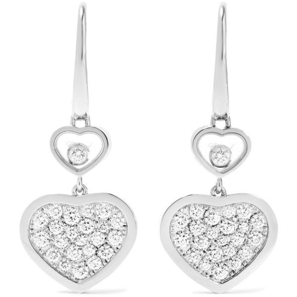 Happy Dreams 18-karat White Gold Diamond Earrings - one size Chopard 0emGQe1a