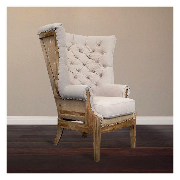 Old World Elegance: Urban Home Deconstructed Estate Chair: Old World Elegance