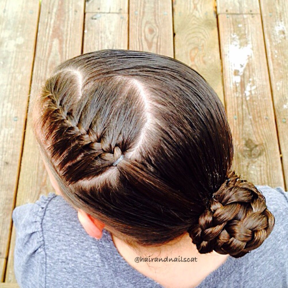 French Braiding Tips - Heart parted french braid into bun