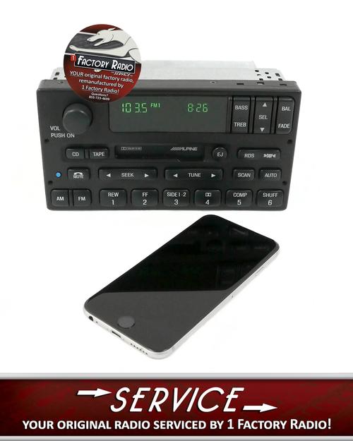 Reman Bluetooth Service Lincoln Town Car 1998 00 Am Fm Radio Cs