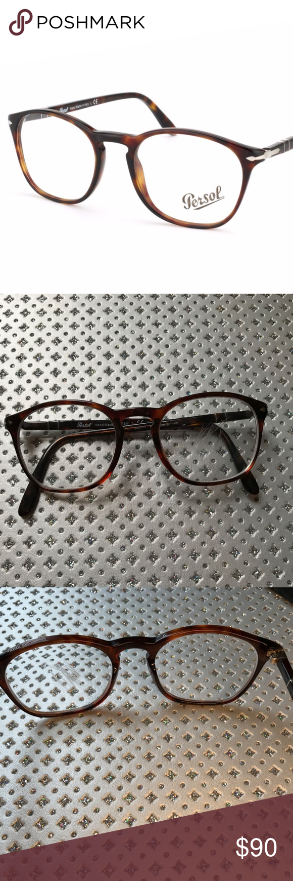 37c43f4769ec Persol PO 3007V 24 Havana Frames Unisex Persol Havana Glasses in Brown. The  shape size is square with rounded edges (see pictures) The frame is a  full-rim ...