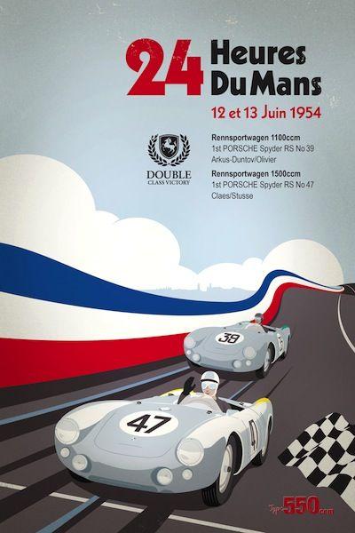 Pub vintage sport automobile course 24 H LE MANS 1958 Blank Carte de vœux